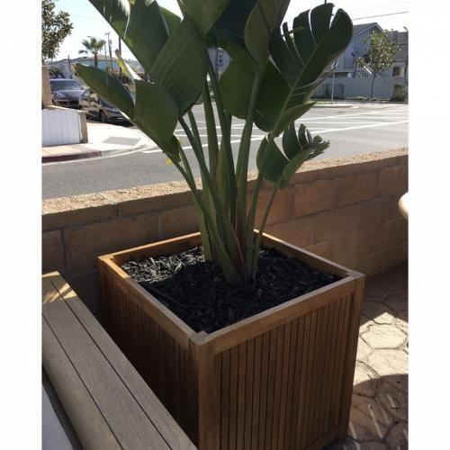 teak planter pot wholesale