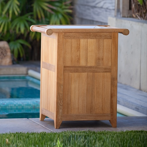 outdoor laundry bin teak pool