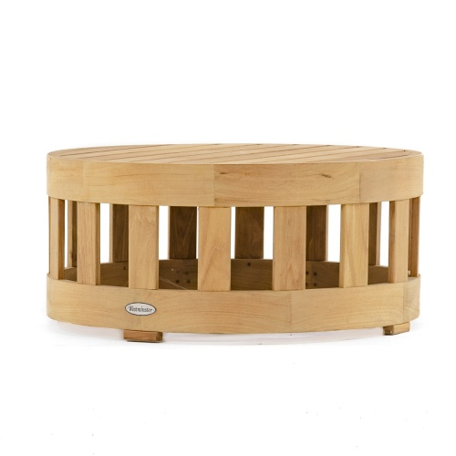 Round Wooden Outdoor Side table