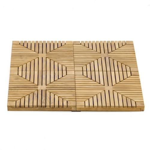 Diamond Teak Flooring Tiles Patio