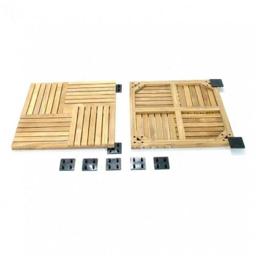 teak wood doormats