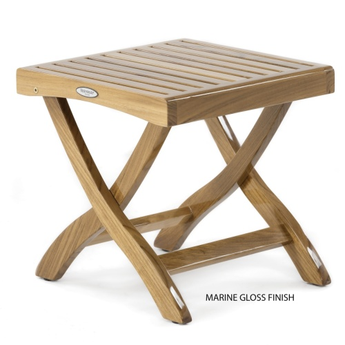 wooden outdoor footstool folding