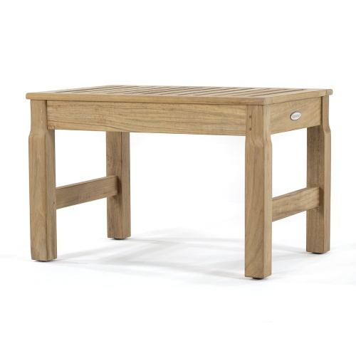 Pleasing 24 Inch Teak Shower Stool Gmtry Best Dining Table And Chair Ideas Images Gmtryco