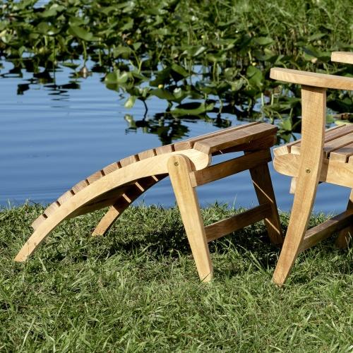 modern adirondack wooden legrest