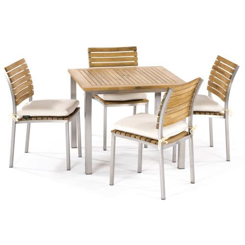 teak wood bistro set seats 4