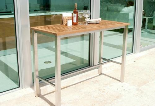 outdoor teak bar tables