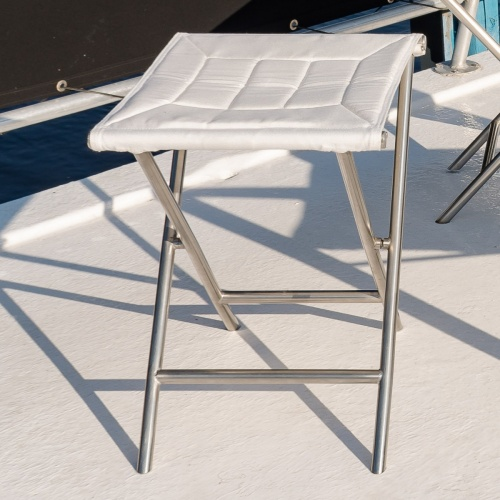 stainless steel boat folding footrest ottoman