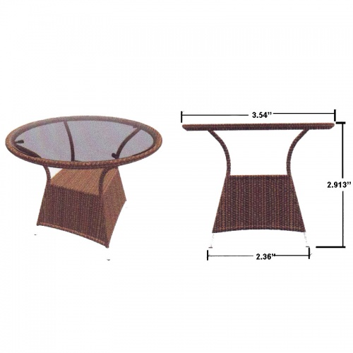 indoor rattan tables