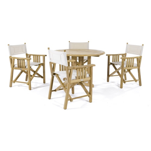 teakwood folding dining table set