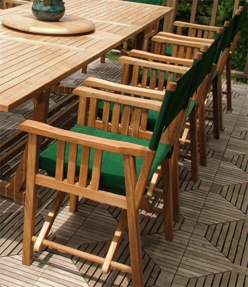 teak wood director dining chairs