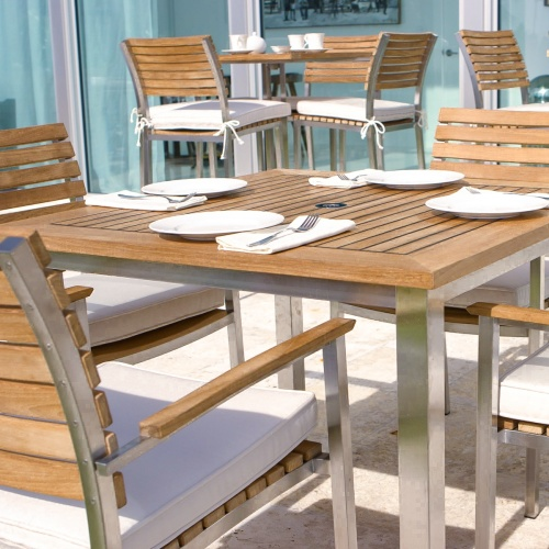 4 piece teak wood bistro set