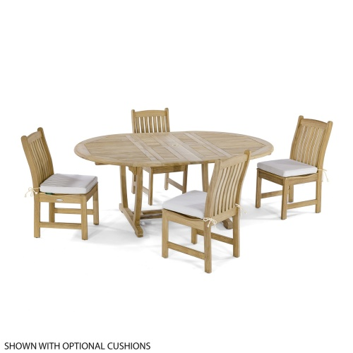 Oval Contemporary dining set 4