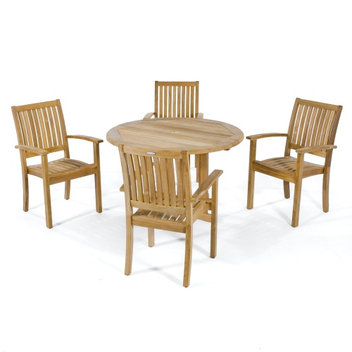 contemporary outdoor wooden sets