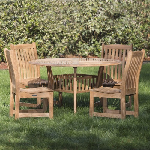 round sidechair dining set
