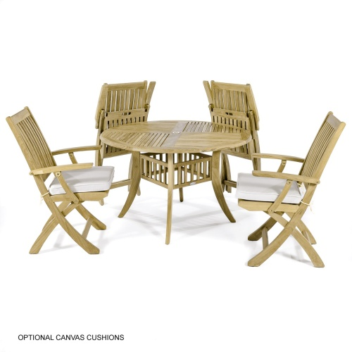 teak casual 5pc dining set
