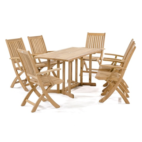 complete folding teak patio  set