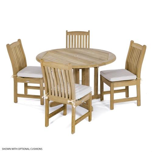 solid teak wood dining set for 4