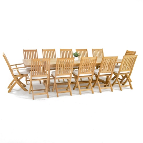 13pc table and folding chairs set