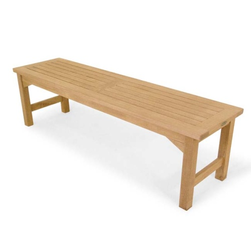 5 Foot Wooden Backless Bench