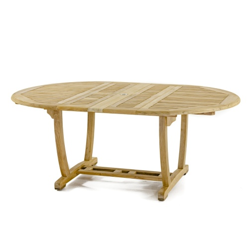 teak tables oval