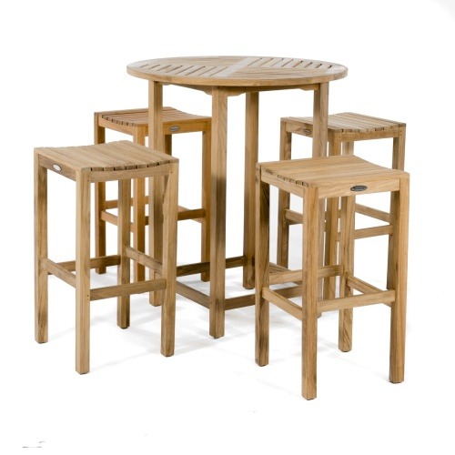 Backless Round  Bar Table Set