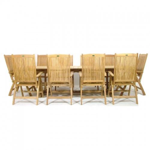 11pc reclining chair patio set