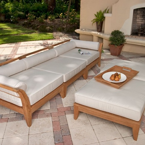 deep seating teak sofa