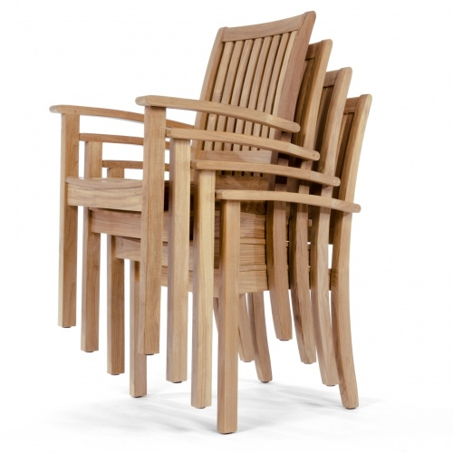 stacking wooden chair sets of 4