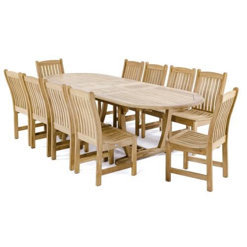 10 piece teak dining sets