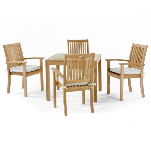 classic bistro teak outdoor dining set