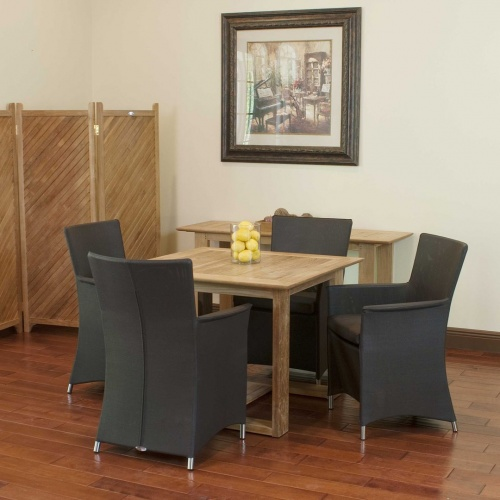 teak dining sets with armchairs