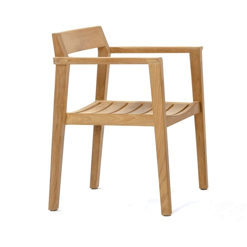 teak danish low back dining chair