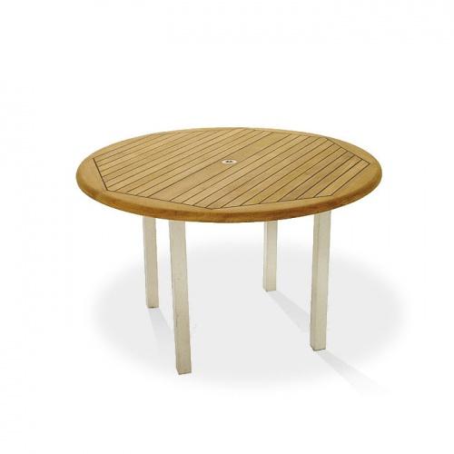 5 ft round teak tables