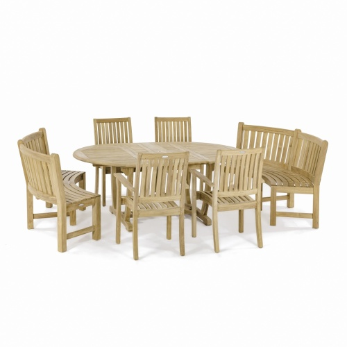 Oval 71 Inch Dining Set for 8