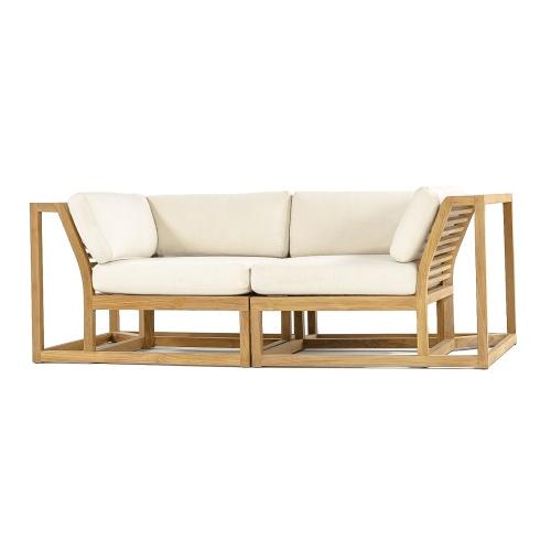 patio loveseat wooden sofa