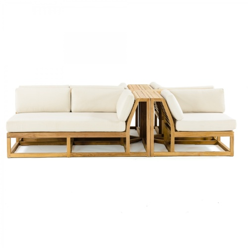 4 pc Teak Lounge Furniture Set