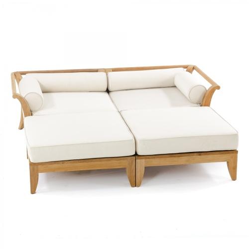 outdoor teak wood day bed