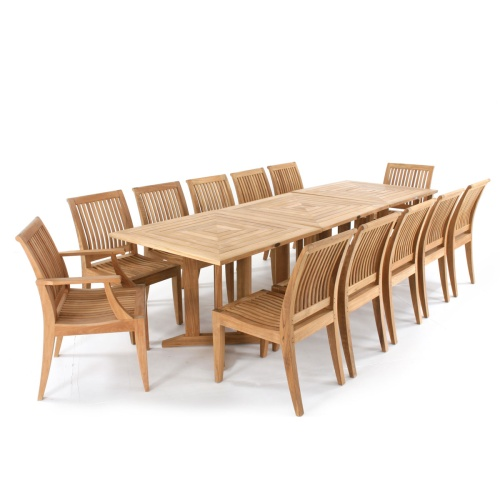 Laguna 14 piece Teak Dining Set