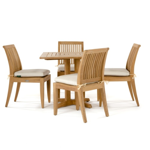 4 Person Patio Teak Bistro Set