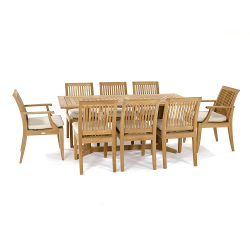 9pc rectangular dining set