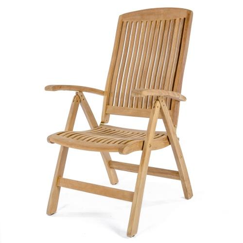 round teak bistro tables