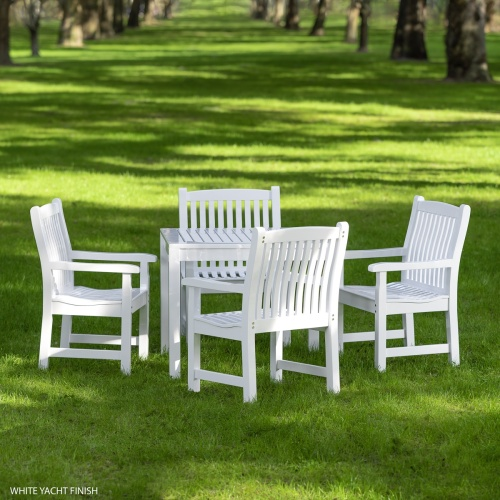 white dinette outdoor furniture