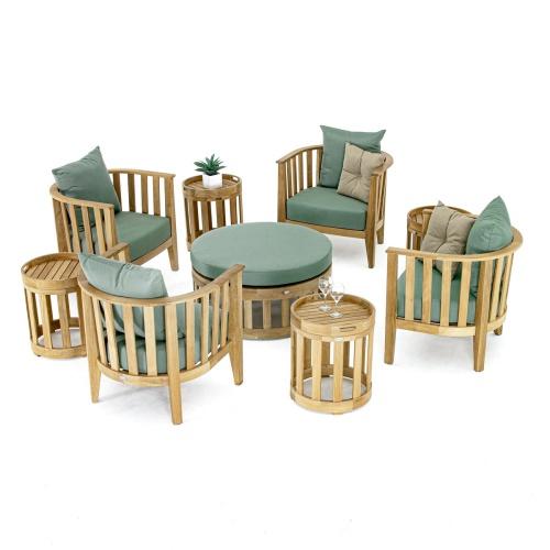 teakwood outdoor chat set