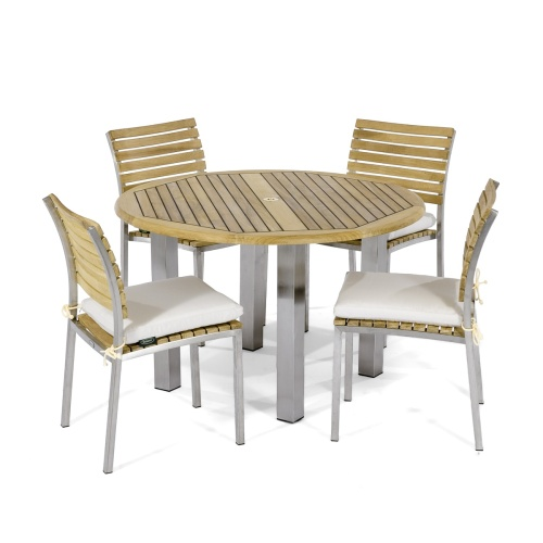 5 piece mdern outdoor dining sets