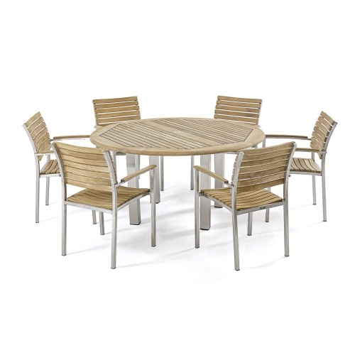 6 seather outdoor wooden sets