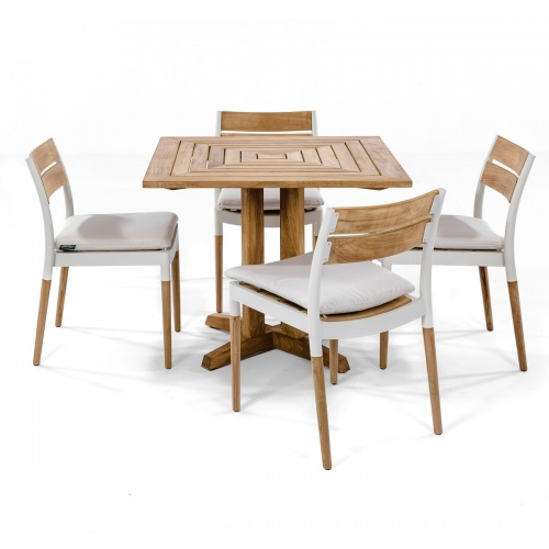 wooden metal outdoor dining set suare