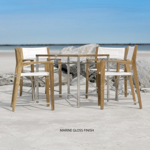 teak tables and chairs for marine