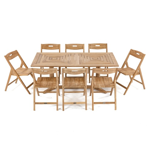 72 Inch Teak patio set for 8