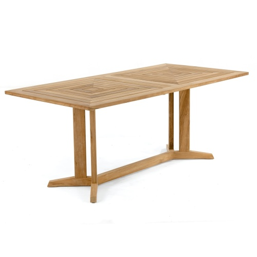versatile teak rectangled table