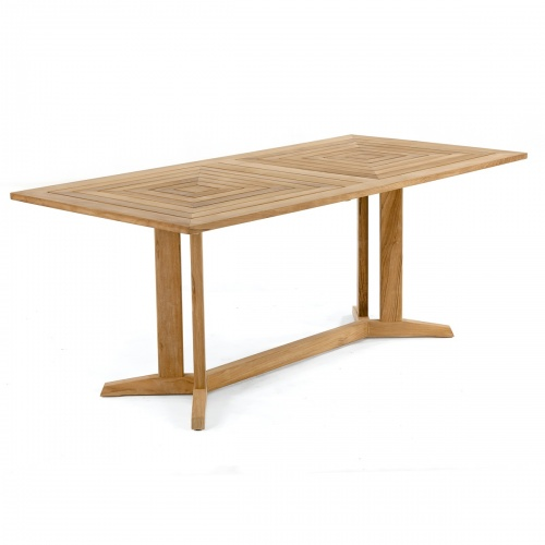 rectangular adjustable extending teak table